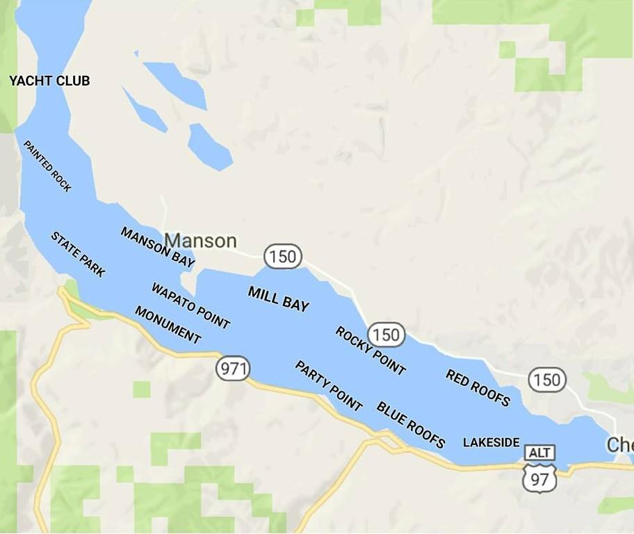 Lake Chelan Map Lake Chelan Fishing Lankmark Map – Gone Fishing Northwest