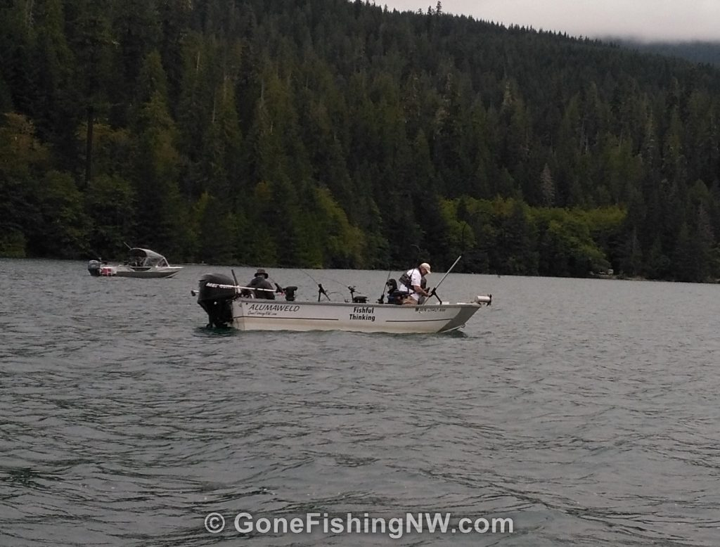 Out fishing for sockeye at Baker Lake